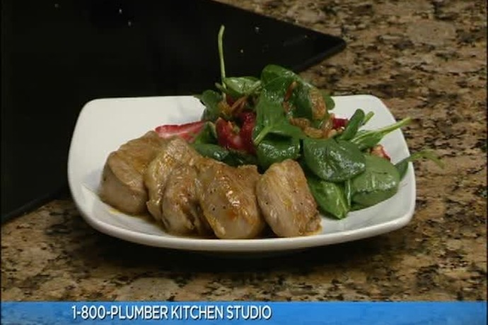 Rory's Double-Glazed Pork Loin & Strawberry Spinach Salad_1065009214159536609