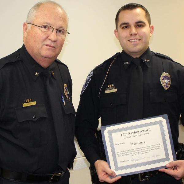 Matt Garza, Canyon Police Department