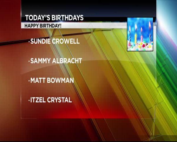 Celeb & Local Birthdays 6/29