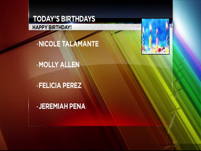 Celeb & Local Birthdays
