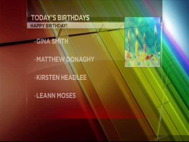 Today's Birthdays 7/26/17