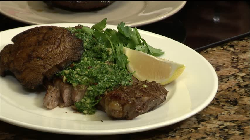 Chef Bud-s Garlic Rubbed Steak with Chimichurri Sauce_14518066