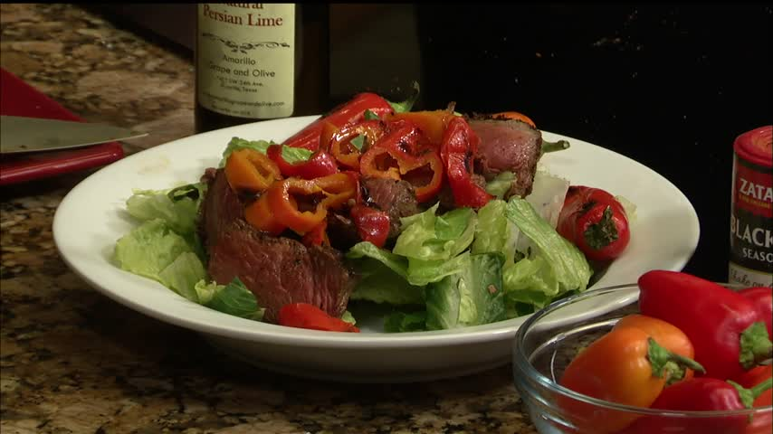 Back to the Table: Blackened Sirloin with Roasted Peppers