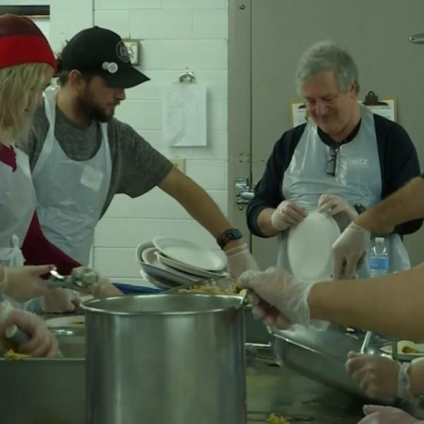 Denver Feeds Homeless For Christmas