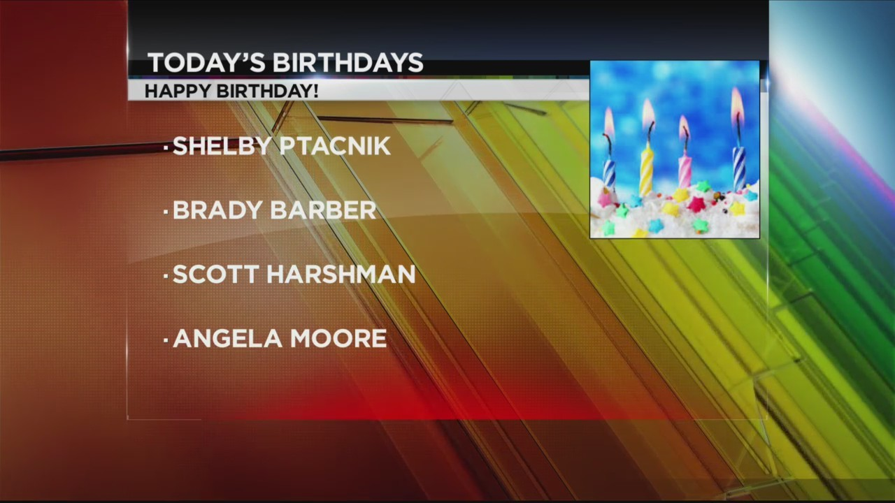 Today's Birthdays 1/25/18