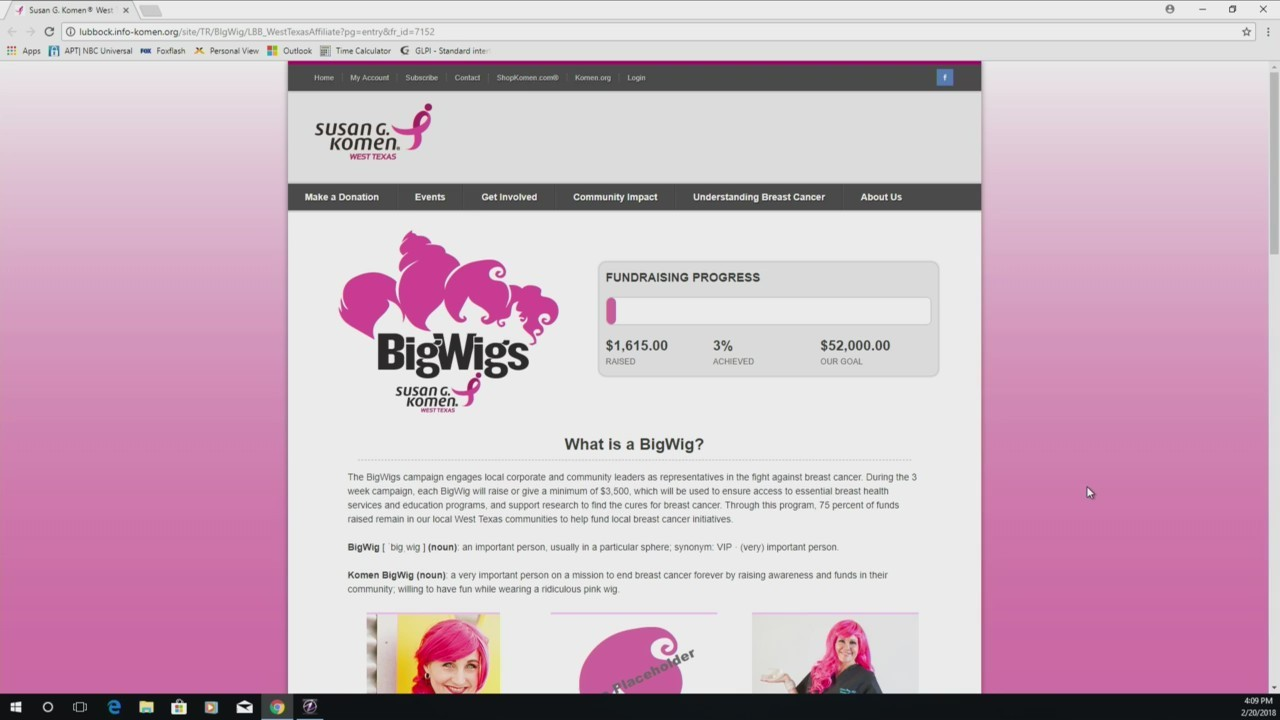 Komen West Texas: BigWigs