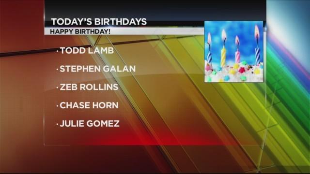 Today's Birthdays 6/1/2018