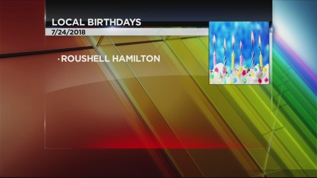 Today's Birthdays 7/24/2018