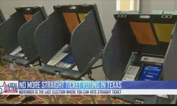 No More Straight-Ticket Voting in Texas after November Election