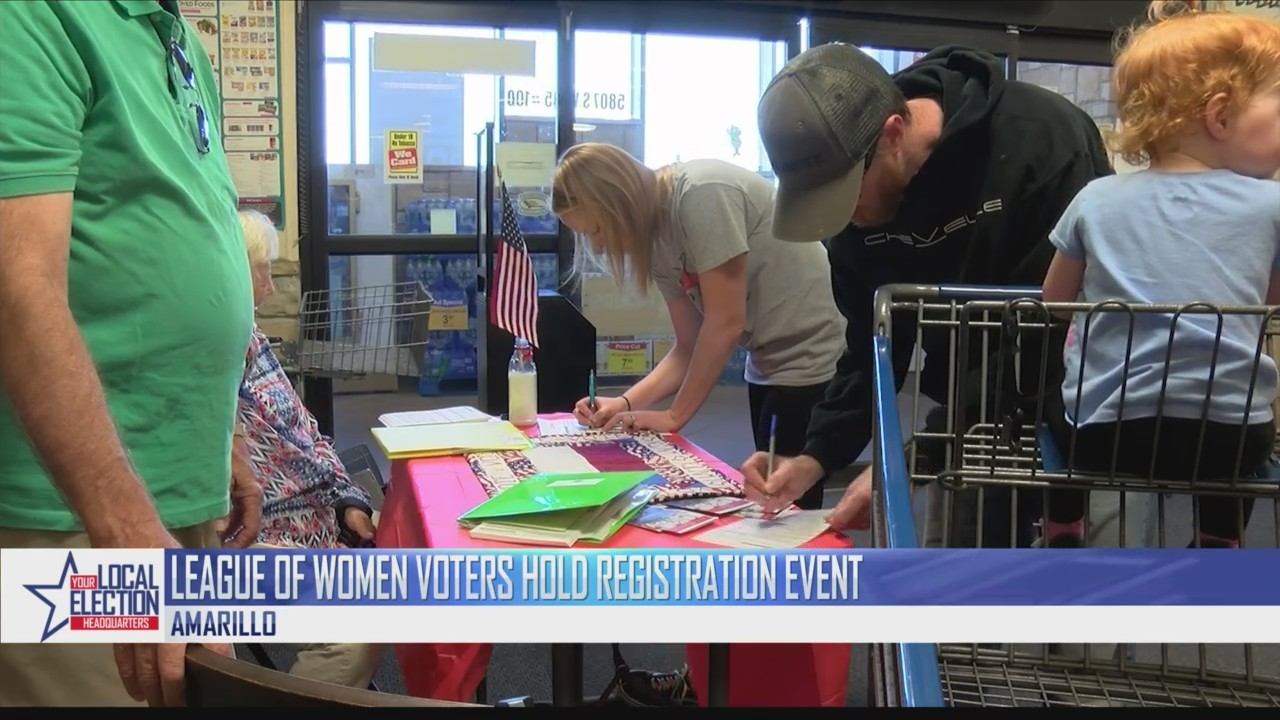 The League of Women Voters Conduct Voter Registration on Saturday
