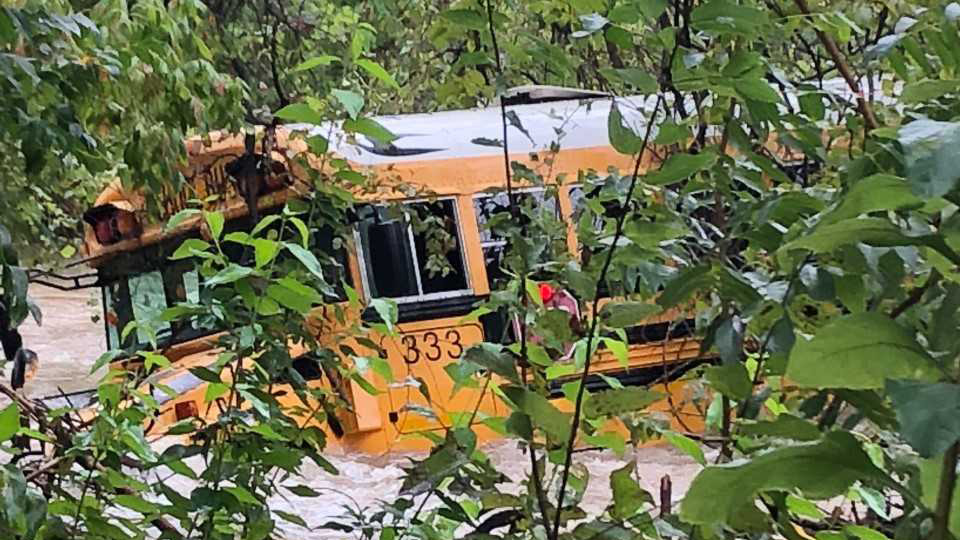 Leander ISD school bus swept away by floodwaters on Oct-846655081. 16, 2018 2