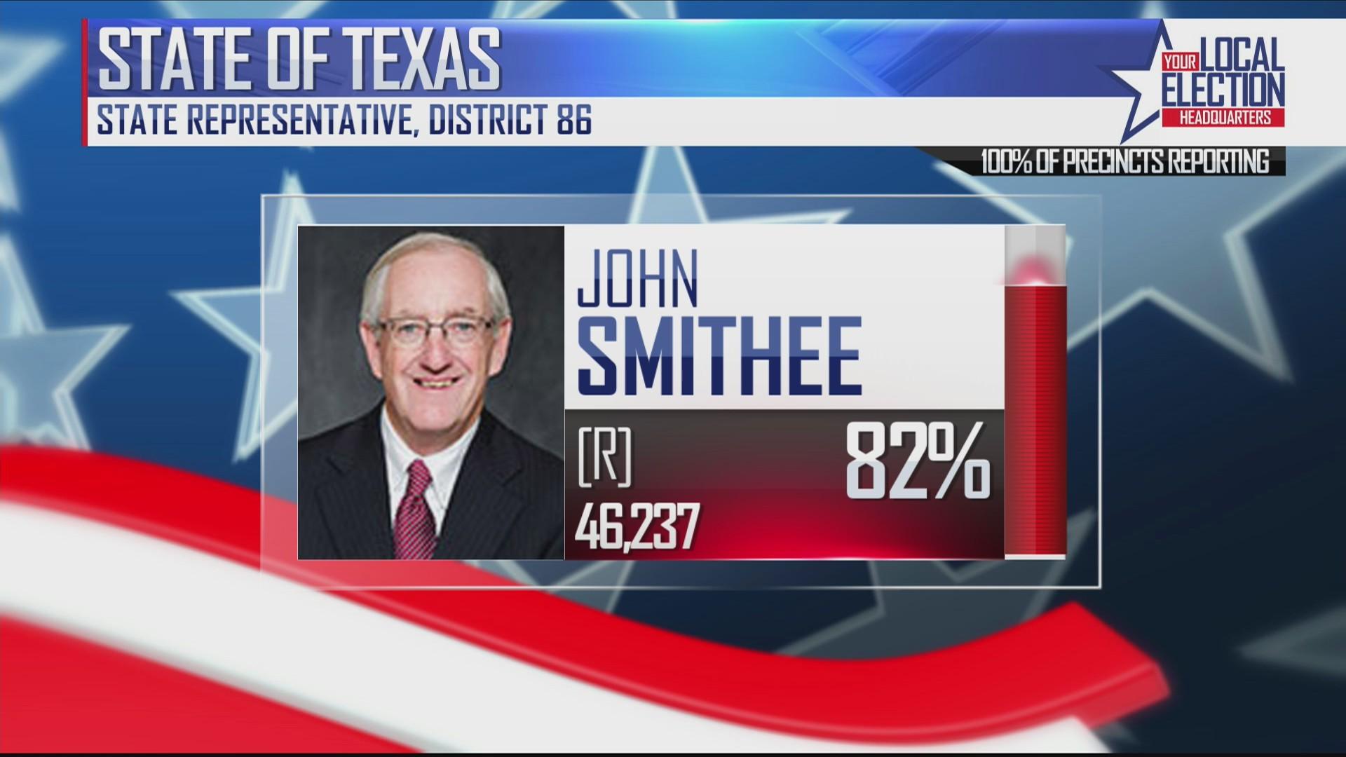 John Smithee Wins District 86 Again