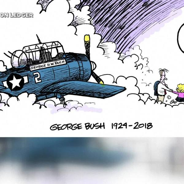 Bush Cartoon Tribute Goes Viral