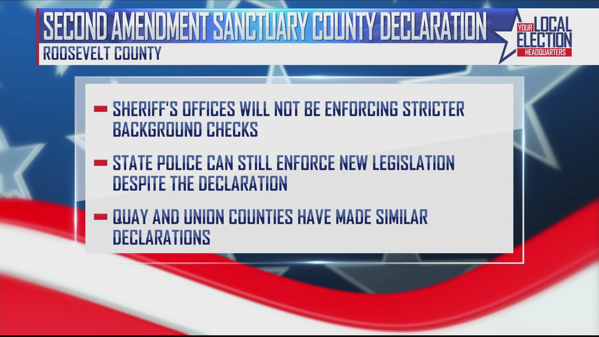 Roosevelt County In New Mexico Declares itself a Second Amendment Sanctuary County
