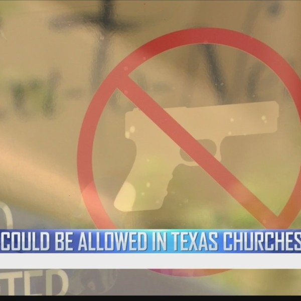 New Texas law will allow handgun owners to carry weapons in church