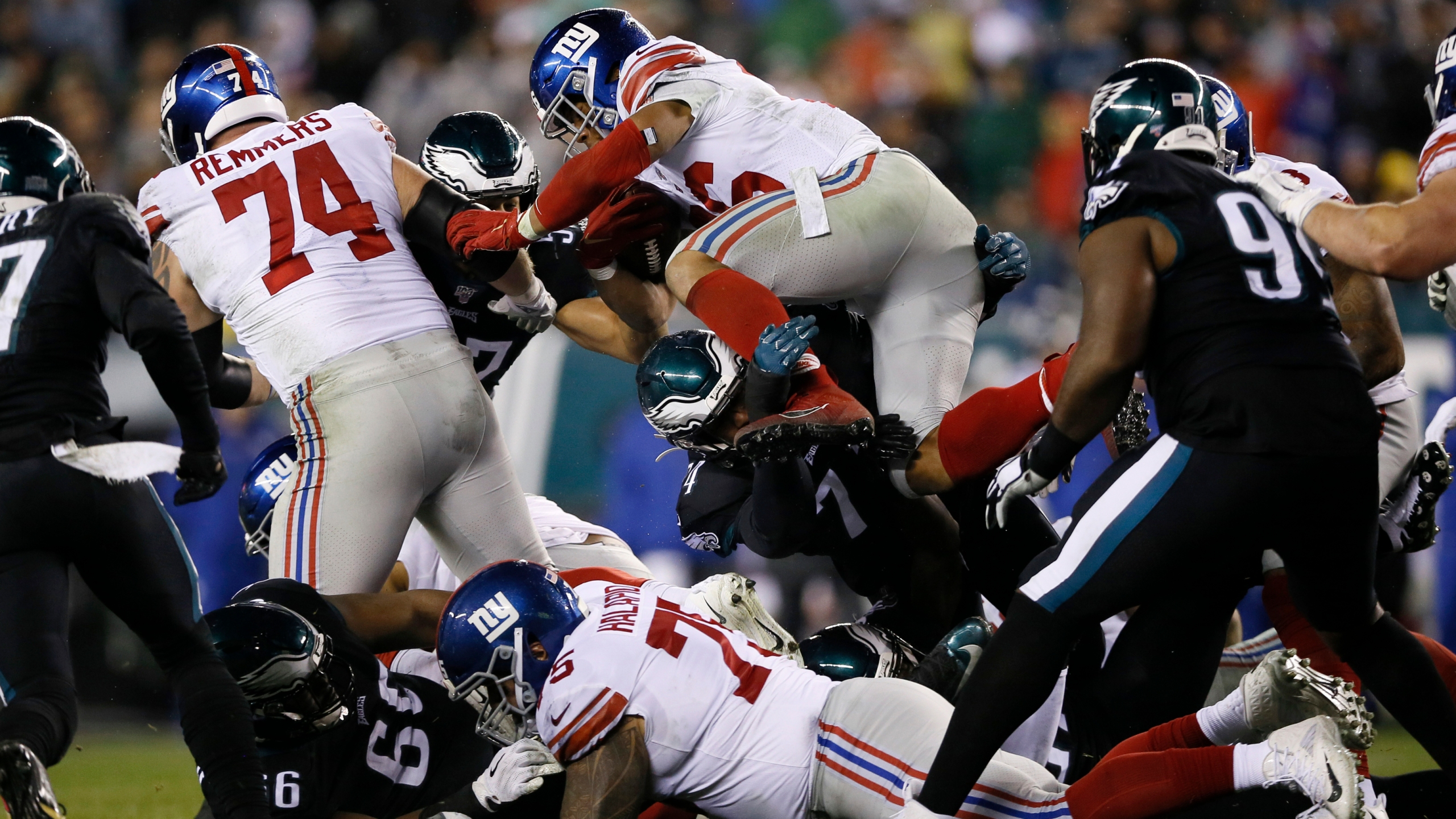 Eagles Rally Past Manning Giants 23 17 In Ot Kamr