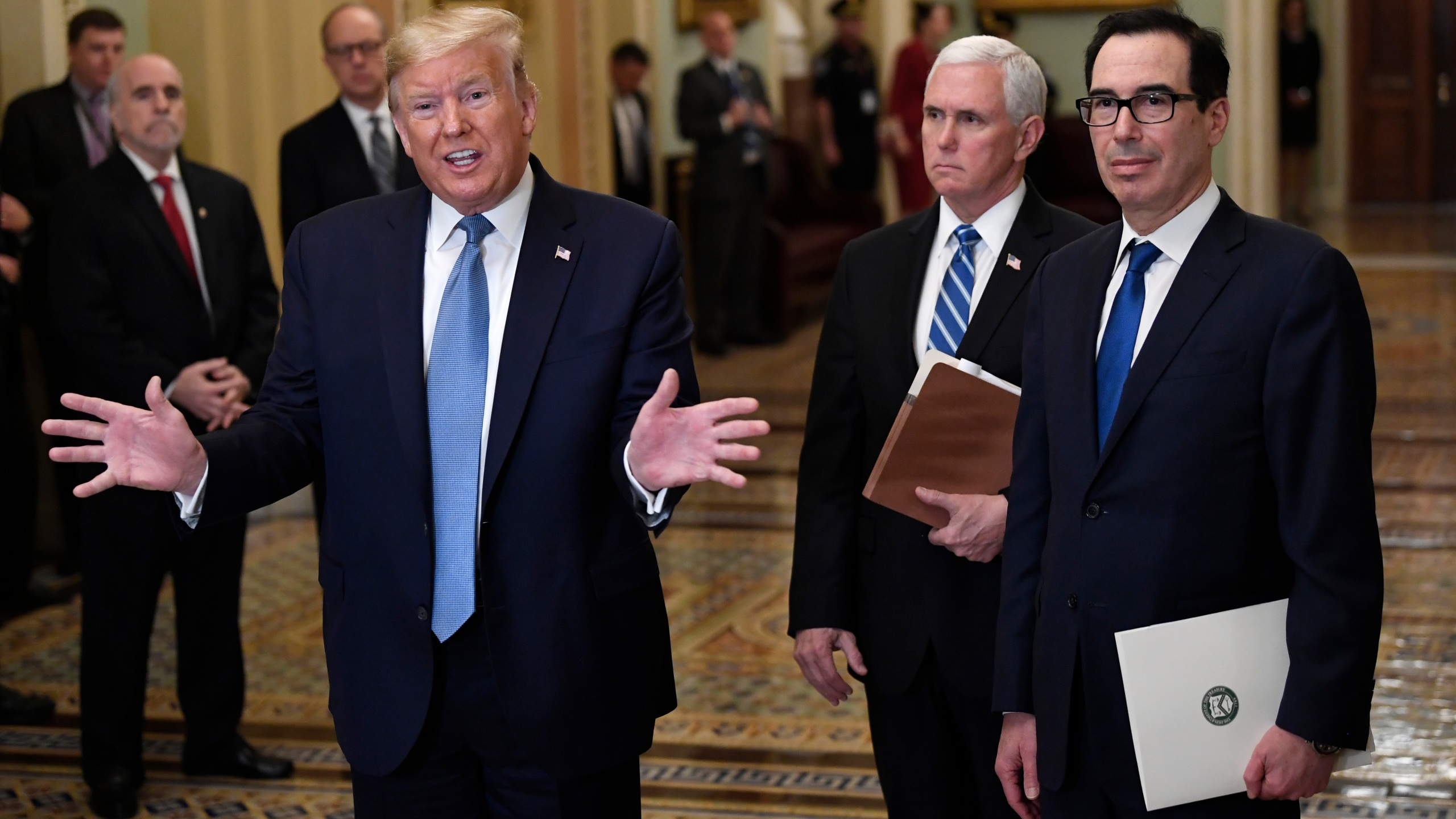 Donald Trump, Mike Pence, Steven Mnuchin