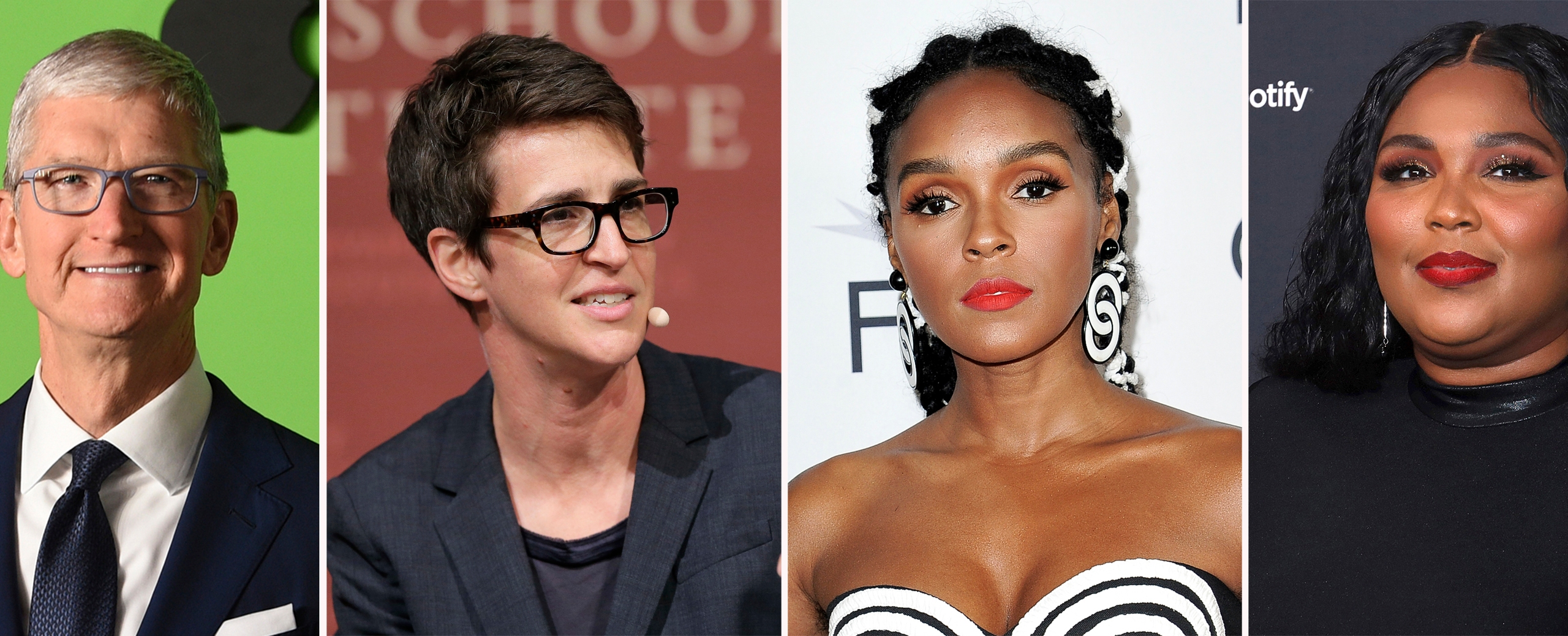 Tim Cook, Rachel Maddow, Janelle Monae, Lizzo